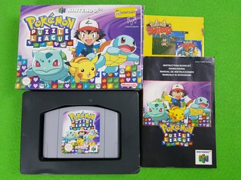 Pokemon Puzzle league KOMPLETT N64 Nintendo 64