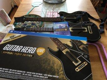 Guitar Hero live PS4 (inkl. 2x Guitar) -Supreme party ed. - Knislinge - Guitar Hero live PS4 (inkl. 2x Guitar) -Supreme party ed. - Knislinge