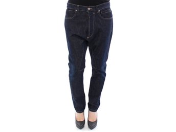 Dolce & Gabbana - Blue Cotton Logo Baggy Fit Jeans Pants