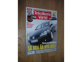 Teknikens Värld nr 21, 2003, Mercedes SLR Saab 9-3 Ford Golf
