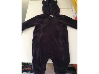 Supermysig lila fleece overall strl 62