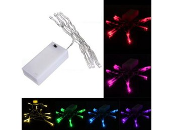 1M 10 LED Battery Powered Christmas Wedding Party String ...