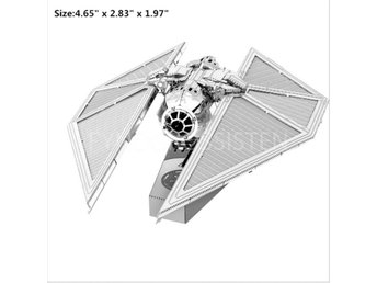 Hobby 3D Metal Pussel Star Wars Imperial Tie Striker Fri Frakt Ny