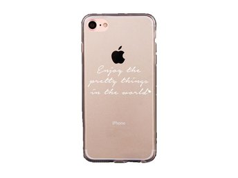 iDiwa Mjukskal  för iPhone 7 -  Enjoy the pretty things in the world vit