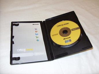 Microsoft Office 2004 Macintosh Upgrade Engelsk Version med nyckel