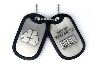 Metal Gear Rising LQ-84i Prototype Logo & Barcode Dog Tags