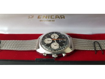 "Beautiful untouched/ unpolished Enicar Chronograph ""Gerhard Mitter"" Valjoux 72"