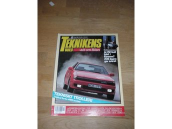 Teknikens Värld nr 12, 1988, VW Golf, Celica, Jaguar V12