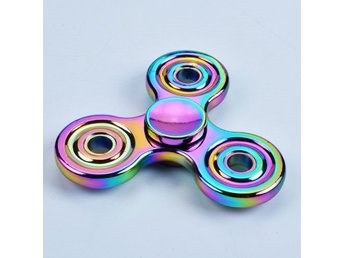 Triangle EDC Fidget Hand Spinner Rainbow Metal ADHD Autism Focus Finger Toys