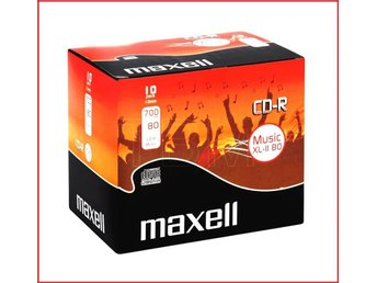 Maxell CD-R 52x, 700MB/80min, 10-pack, jewel case, audio silver