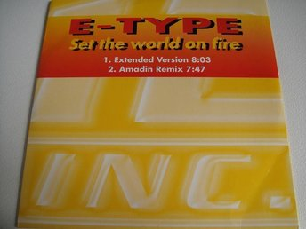 E-TYPE Set the world on fire CD SINGEL RARITET FINT SKICK