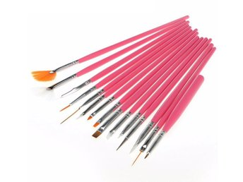 15Pcs Nail Art Acrylic UV Gel Design Brush Set Painting Pen