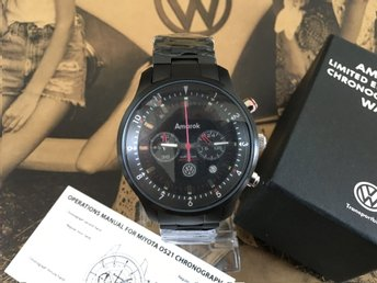 NY Volkswagen AMAROK Citizen (Miyota) Limited Edition Chronograph Japan herrur