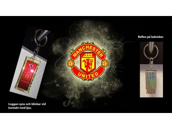 Ny Unik Manchester United FC Solcell Nyckelring med reflex