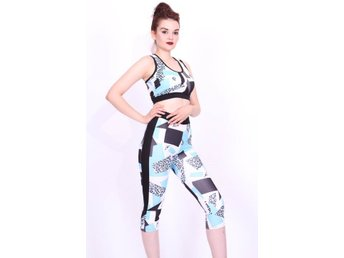 Sport set -leggings -Bustier BH tränings set-tränings tights SMALL