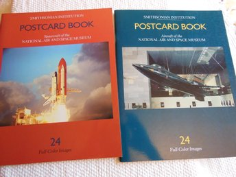POSTCARD BOOK 2 volymer, Spacecraft and Aircraft, 48 vykort i färg