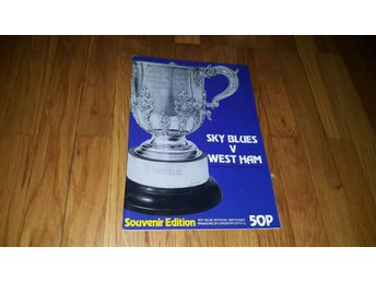 Program Coventry City v West Ham semifinal ligacupen 1981