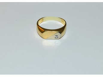 Ring m. briljant 0,06ct 18k 4,9g 17197:3 l.nr 5430