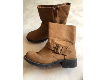 Svarta Boots Stövlar Stövletter Retro Trend Slu.. (348822992