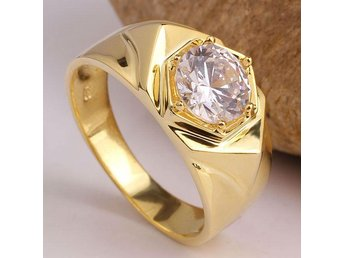 Fashion Jewelry 18k Gold Plated Ring for Men Or Wedding Jewellery 10kt