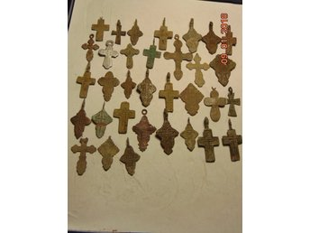 CROSS RUSSIA XVII-XVIII CENTURY. 30 PIECES