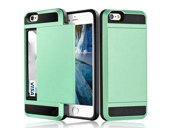 iPhone X - Korthållare Plånboksfodral Wallet Case Holder ShockProof - Mint  Green 211c05ebbf6b1