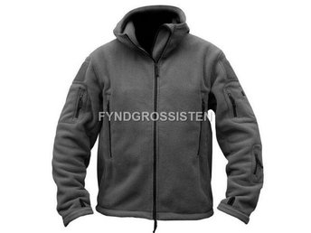Fleecejacka Herr Military Outdoor Thermal Grå Strlk XL Fri Frakt Ny
