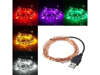 5M 50 LED USB Copper Wire LED String Fairy Light for Chri...