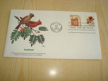 Cardinal Kardinal 1978 USA förstadagsbrev - Jämjö, Blekinge - Cardinal Kardinal 1978 USA förstadagsbrev - Jämjö, Blekinge