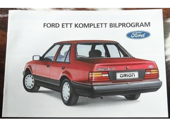 Ford modellprogram 1986