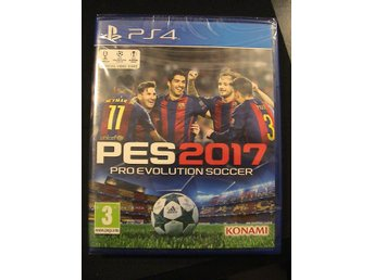 PES 2017 PRO EVOLUTION SOCCER / PLAYSTATION 4 PS4 / HELT NYTT & INPLASTAT