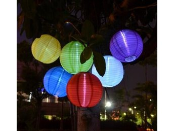 2st LED Lampa Round Yellow Solar Lantern Led Lampor For Festive Party Decorative