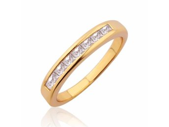 2016 Fashion CZ Zircon Crystal stavar Ring Prinecess Band Engage Ring 24k Guld - Malmö - 2016 Fashion CZ Zircon Crystal stavar Ring Prinecess Band Engage Ring 24k Guld - Malmö