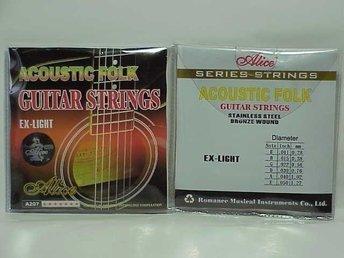 OUTLET - Alice strings A207 till Western, Acoustic gitarr - Vaggeryd - Alice strings till Western, Acoustic gitarr Alice Super quality Nr A207 SL ---------------------------------------------------------------------- Betalning: SWISH eller till mitt bankkonto inom 5 dagar. Leverans så fort efter mottagningbetalni - Vaggeryd