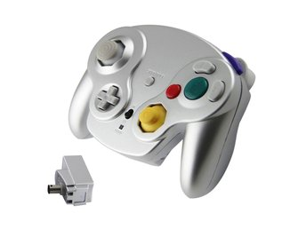 Wavebird 2.4GHZ Wireless Controller for Gamecube (Platinum Silver) (Ny)