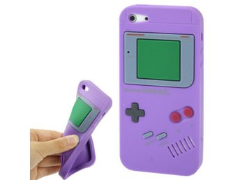 iPhone 5/5S Silikonskal Game Boy Lila