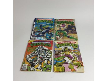 Eastman and Laird's, Serietidningar, 4 st, Teenage mutant hero Turtles