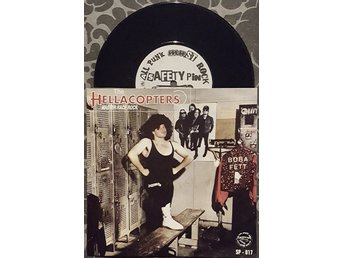"THE HELLACOPTERS / POWDER MONKEYS, SPLIT ""7, SP-017 SAFETYPIN RECORDS EX/NM"