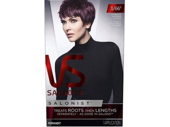 Sassoon Salonist - hårfärg - darkest intense violet - 3/66 3 st