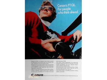 CANON - FT QL, FOR PEOPLE WHO THING AHEAD, TIDNINGSANNONS 1970