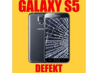 DEFEKT Samsung Galaxy S5 Svart Olåst 16 Megapixel 16GB 4G LTE SM-G900F - Skultuna - DEFEKT Samsung Galaxy S5 Svart Olåst 16 Megapixel 16GB 4G LTE SM-G900F - Skultuna