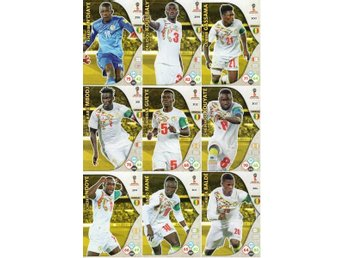 Panini Adrenalyn World Cup RUSSIA 2018 - SENEGAL - 9 x Team mates
