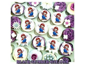 Super Mario tårtoblater - Cake toppers - Muffin topper