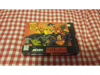 JUSTICE LEAGUE TASK FORCE till Super Nintendo SNES NTSC Komplett