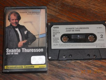 SVANTE THURESSON - Just in time, kassett WEA Tyskland 1982 NCB