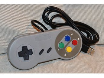 SNES Handkontroll USB PC, Macbook (Klassisk, Färger) Tredjep