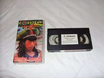 Jean Yves Cousteau Shadows in The Wilderness VHS PAL Portugal utgåva Brasilien