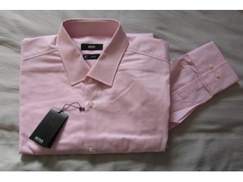 Hugo Boss Skjorta Slim Fit Jenno Long Sleeve Pastel Pink Strl 41
