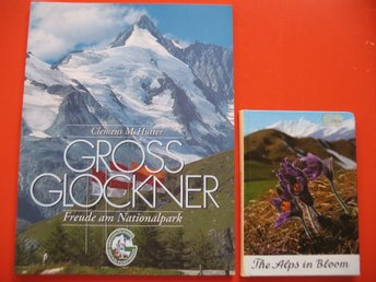 ÖSTERRIKE ALPERNA GROSS GLOCKNER OCH THE ALPS IN BLOOM TURIST BOK OCH FLORA