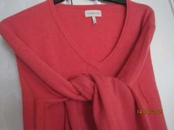rosa  lana/ lammull v neck  casual tröja New House  M